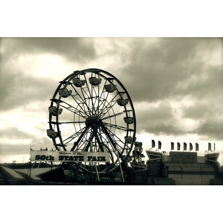 LAMINATED POSTER Clouds Ferris Wheel State Fair Hawaii Ride Poster Print 24 x 36