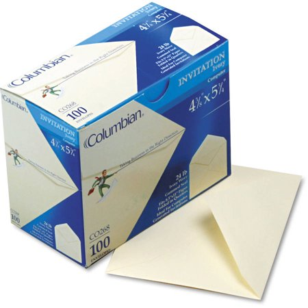 columbian woven invitation envelopes box of 100 walmart com