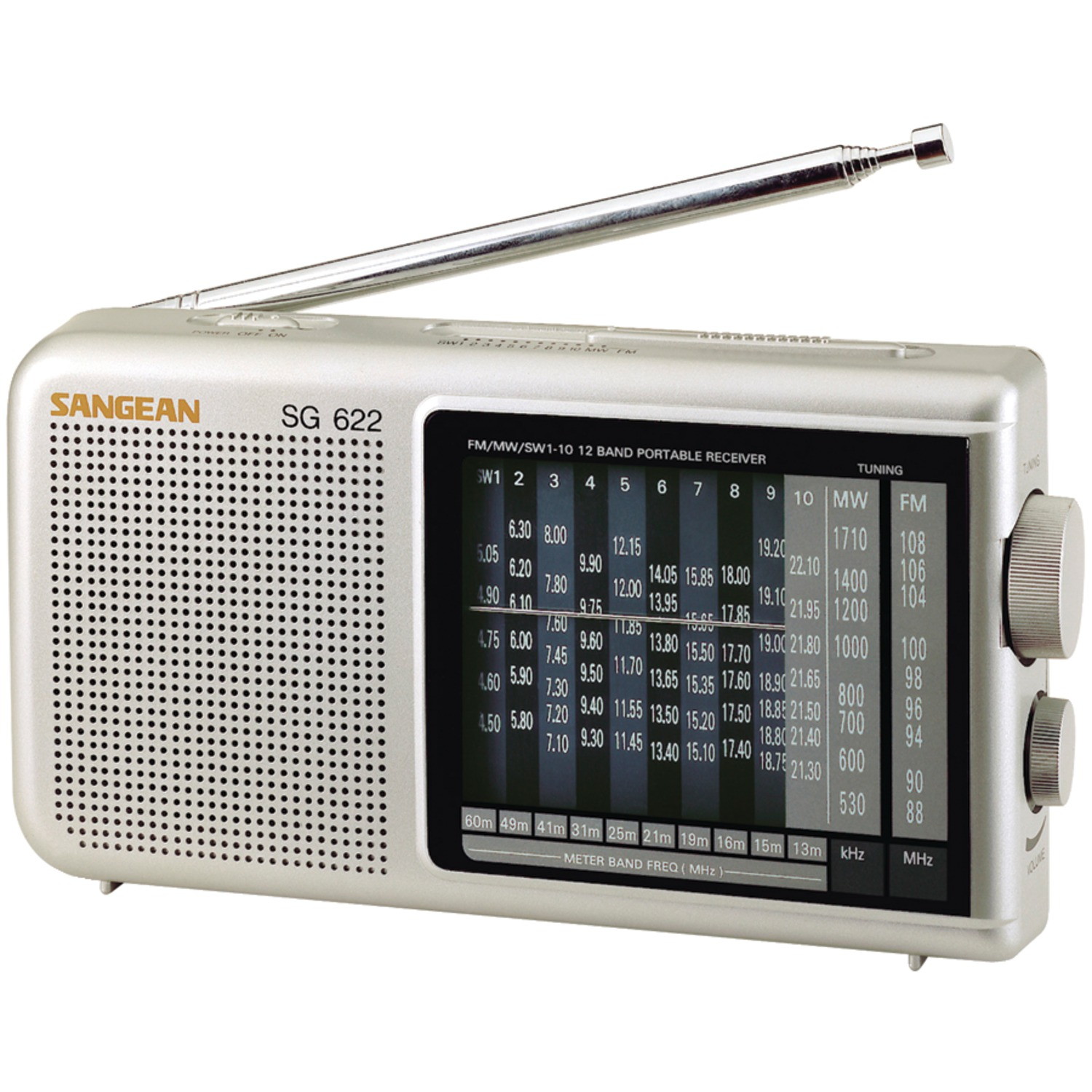 Sangean Sg622 12-band Compact World Band Receiver With Led by Sangean