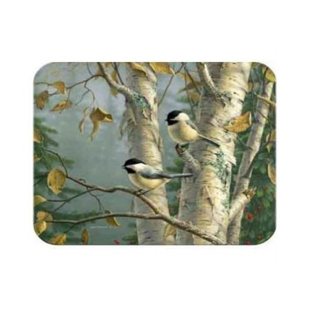 9 X 12 Inch Chickadees Tempered Glass Kitchen Cutting Board By Mcgowan Manufacturing