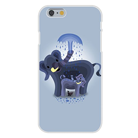 Apple iPhone 6+ (Plus) Custom Case White Plastic Snap On -