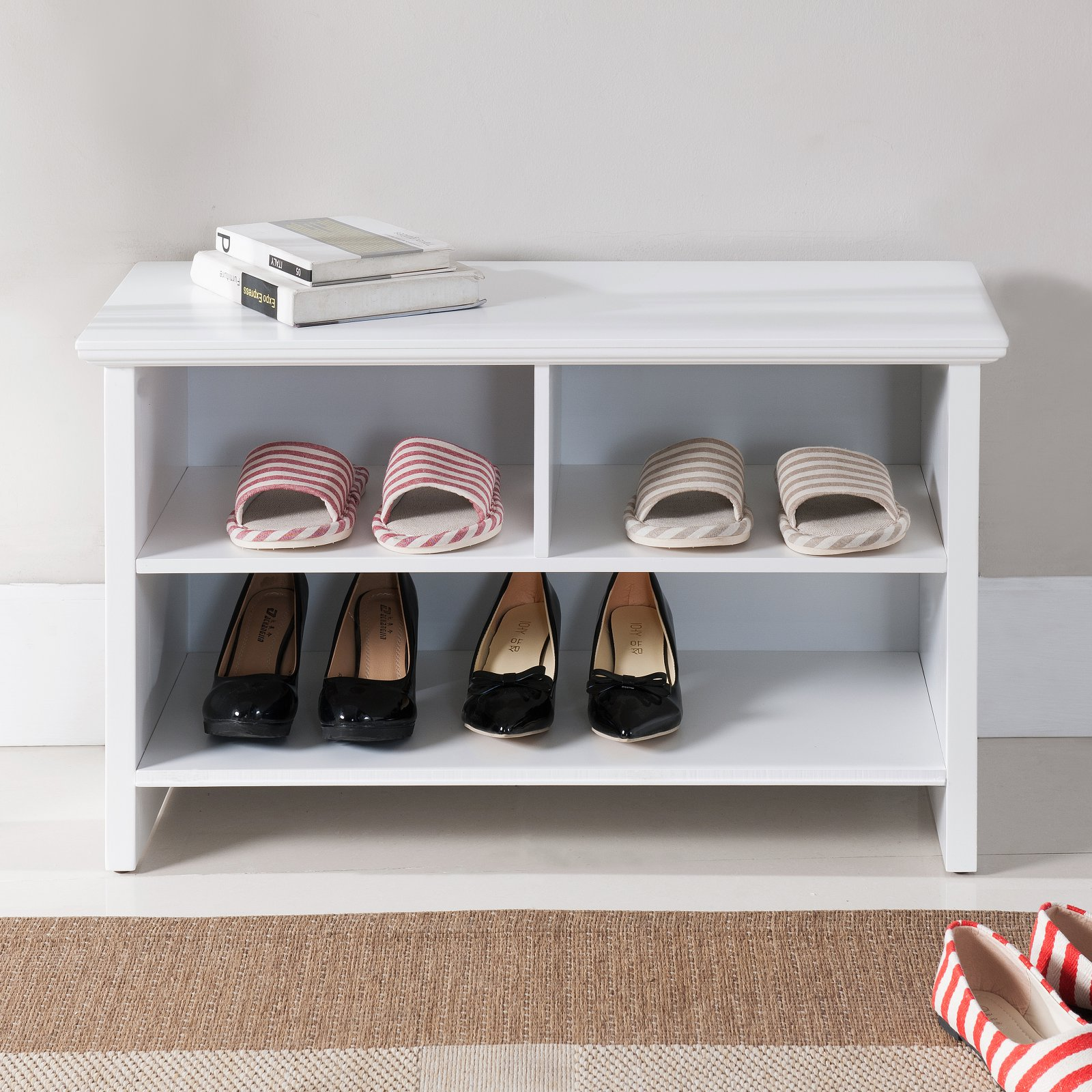 K & B Furniture Hoover Entryway Storage Bench