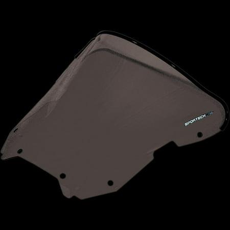 Sportech 45491119 V-Flow Chrome Series Windscreen - Smoke Tint