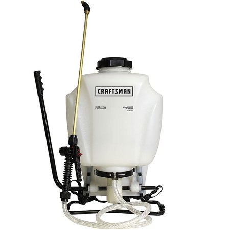 - Craftsman Backpack 4 Gallon Tank Garden Sprayer with Adjustable Tip + Nozzles