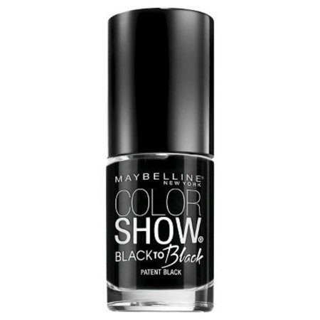 Maybelline Color Show Black Nail Polish - Patent Black - 0.23 oz
