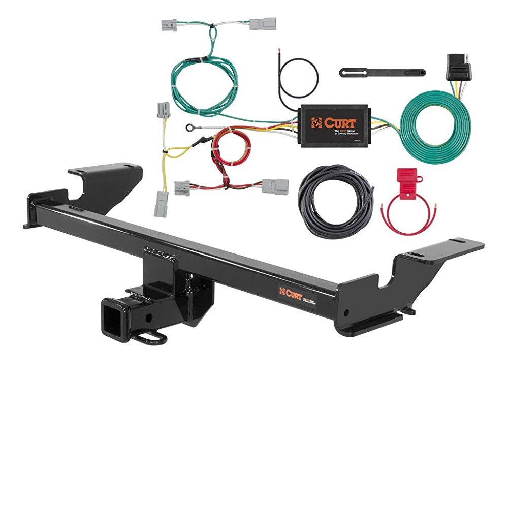 curt class 3 trailer hitch bundle with wiring for 2016 mazda cx-5 - 13127 & 56310