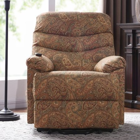 Red Barrel Studio Cerro Paisley Power Reclining Lift Assist Recliner ...