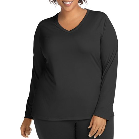 Active Long Sleeve Cool Dri V-Neck Tee