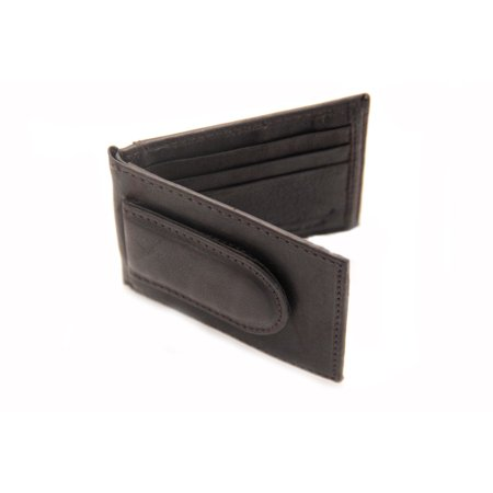 23dd99c09a1f Mens Wallet Money Clip Bifold Magnetic ID Outside Card Holder Genuine  Leather - Walmart.com