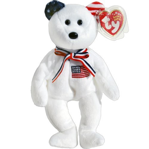 America 911 Memorial White Teddy Bear Ty Beanie Babies By Beanie Babies Teddy Bears by