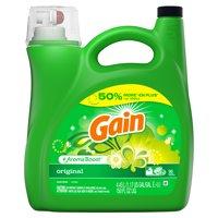 Gain Original HE, Liquid Laundry Detergent, 150 Fl Oz 96 loads