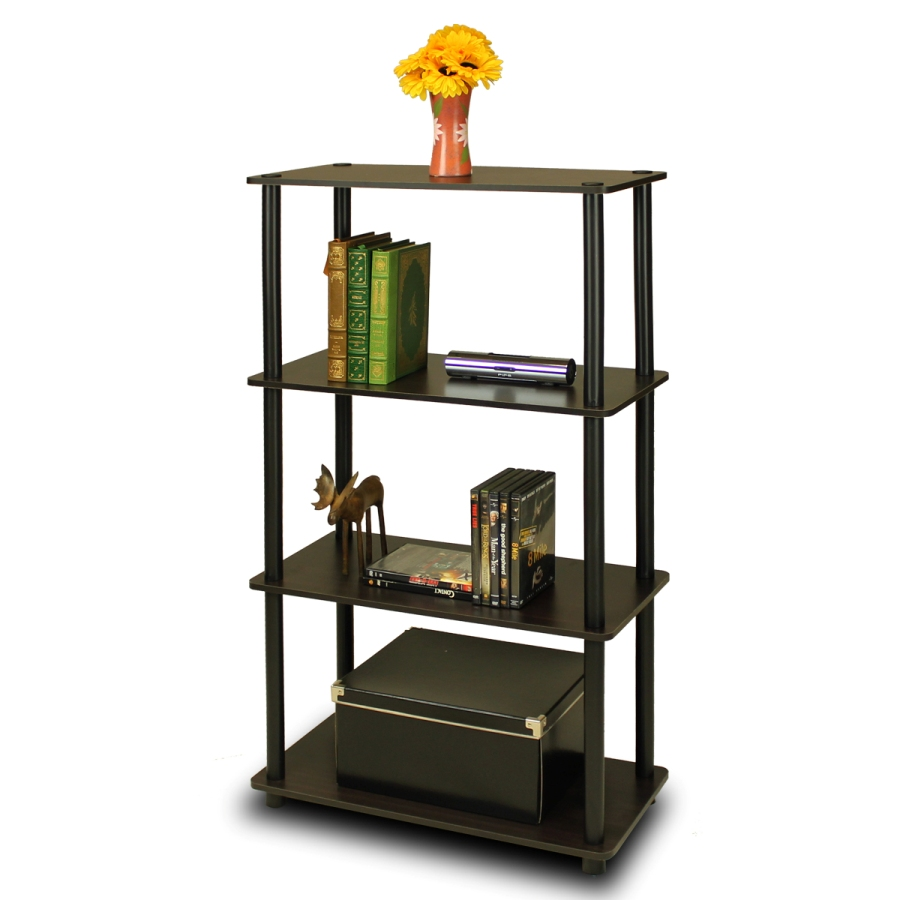 Furinno 99557 Turn-N-Tube 4-Tier Multipurpose Shelf Display Rack