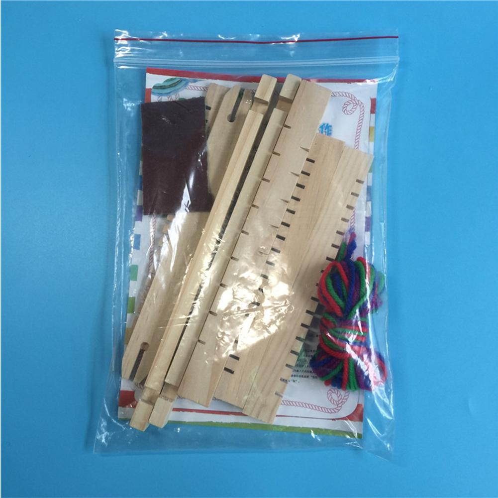 DIY Hand-Knitting Wooden Loom Toys Children Weaving Machine Interllectural Development Technology Production Color:DIY loom - image 5 de 6