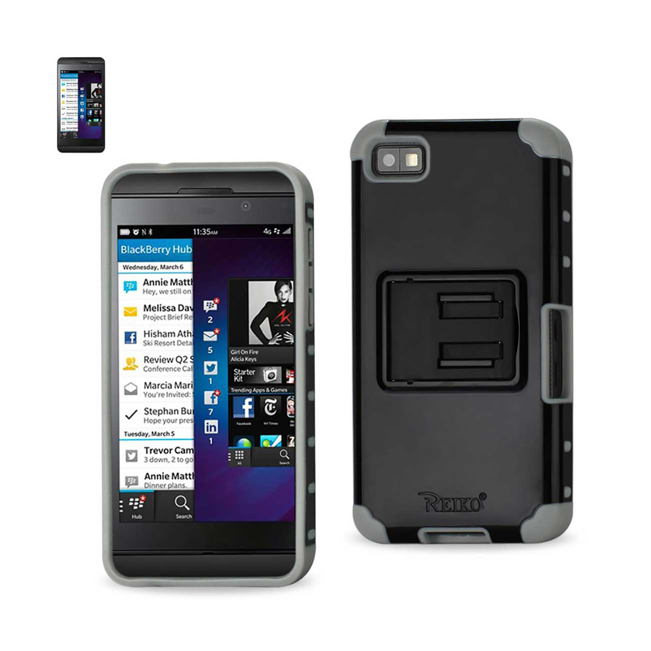 MODES WIRELESS BLACKBERRY Z10 HYBRID HEAVY DUTY CASE WITH HORIZONTAL KICKSTAND