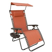 """31"""" Wide Gravity Free/ Anti Gravity Recliner with Canopy - Orange"""