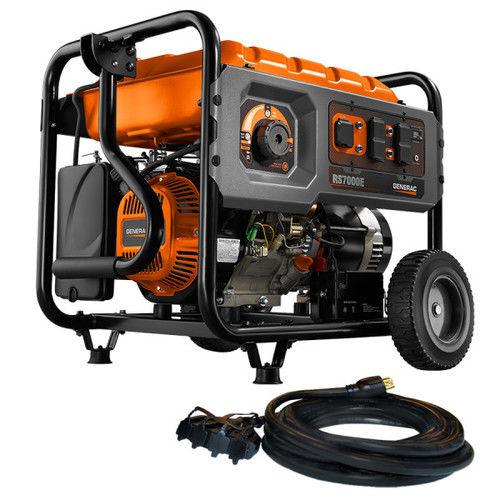 Rapid Start 7000-Running-Watt Portable Generator With Generac
