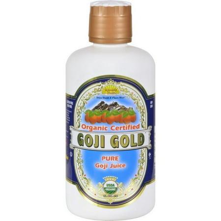 Dynamic Health Organic Certified Goji Berry Gold Juice - 32 Fl (Pure Wildharvested Goji Juice)