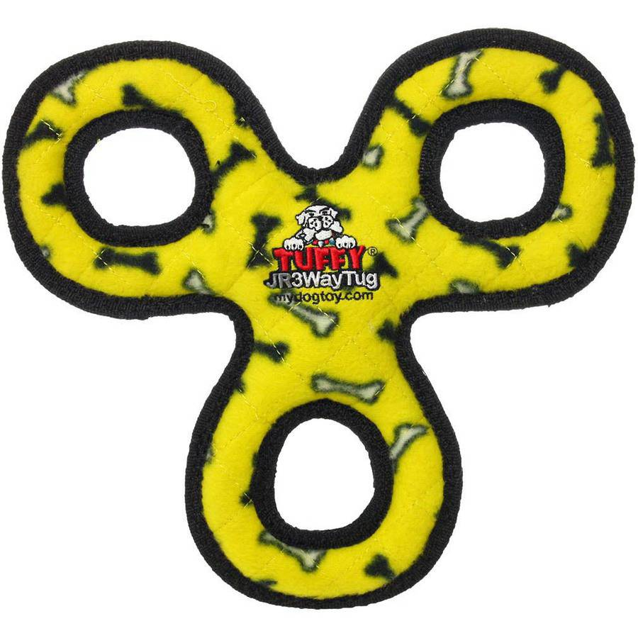 Tuffy Jr. 3-Way Tug, Yellow Bone