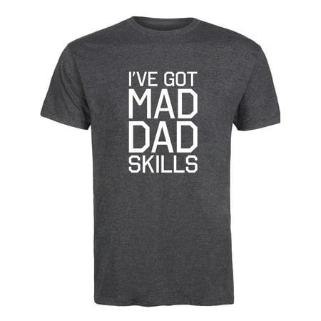 I've Got Mad Dad Skills  - Adult Short Sleeve Tee (Mad Men Instant Video)