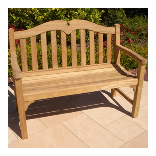 Royal Teak by Lanza Products Teakwood Regent Wood Garden Bench