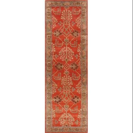 Classic Oriental Pattern Orange Brown Wool Area Rug 2 6x8