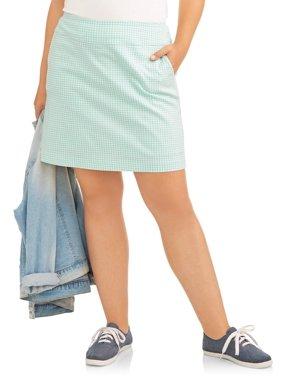 25e755731ad46 Women s Plus-Size Skirts - Walmart.com - Walmart.com