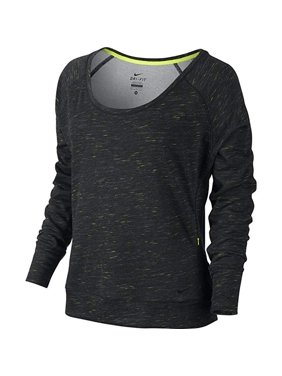 7c6920f81ba290 Product Image Nike Obsessed Neon Fleck Pullover Scoop Neck Women s Top Black