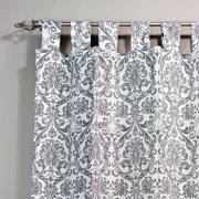 Brite Ideas Living Abigail Storm Twill Tab Top Curtain Panel - 84L x 54W in.