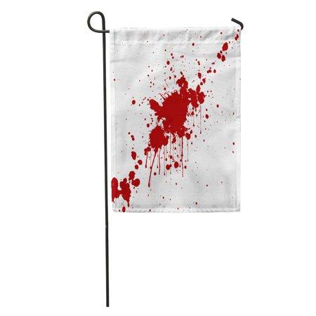 KDAGR Blood Splatter Red Color Illustraitttion Spatter Splash Splat Stain Garden Flag Decorative Flag House Banner 12x18 - Blood Spatter Shoes