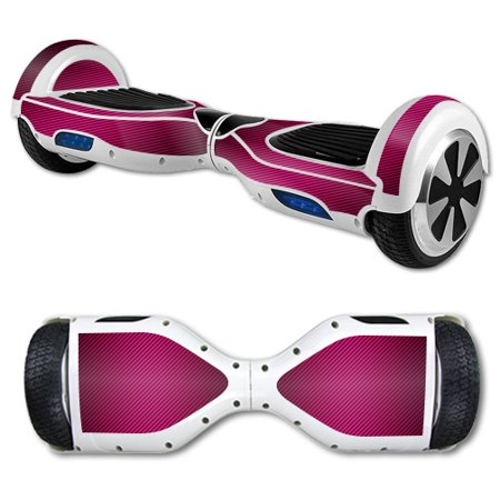 MightySkins Protective Vinyl Skin Decal for Hover Board Self Balancing Scooter mini 2 wheel x1 razor wrap cover Pink Carbon Fiber