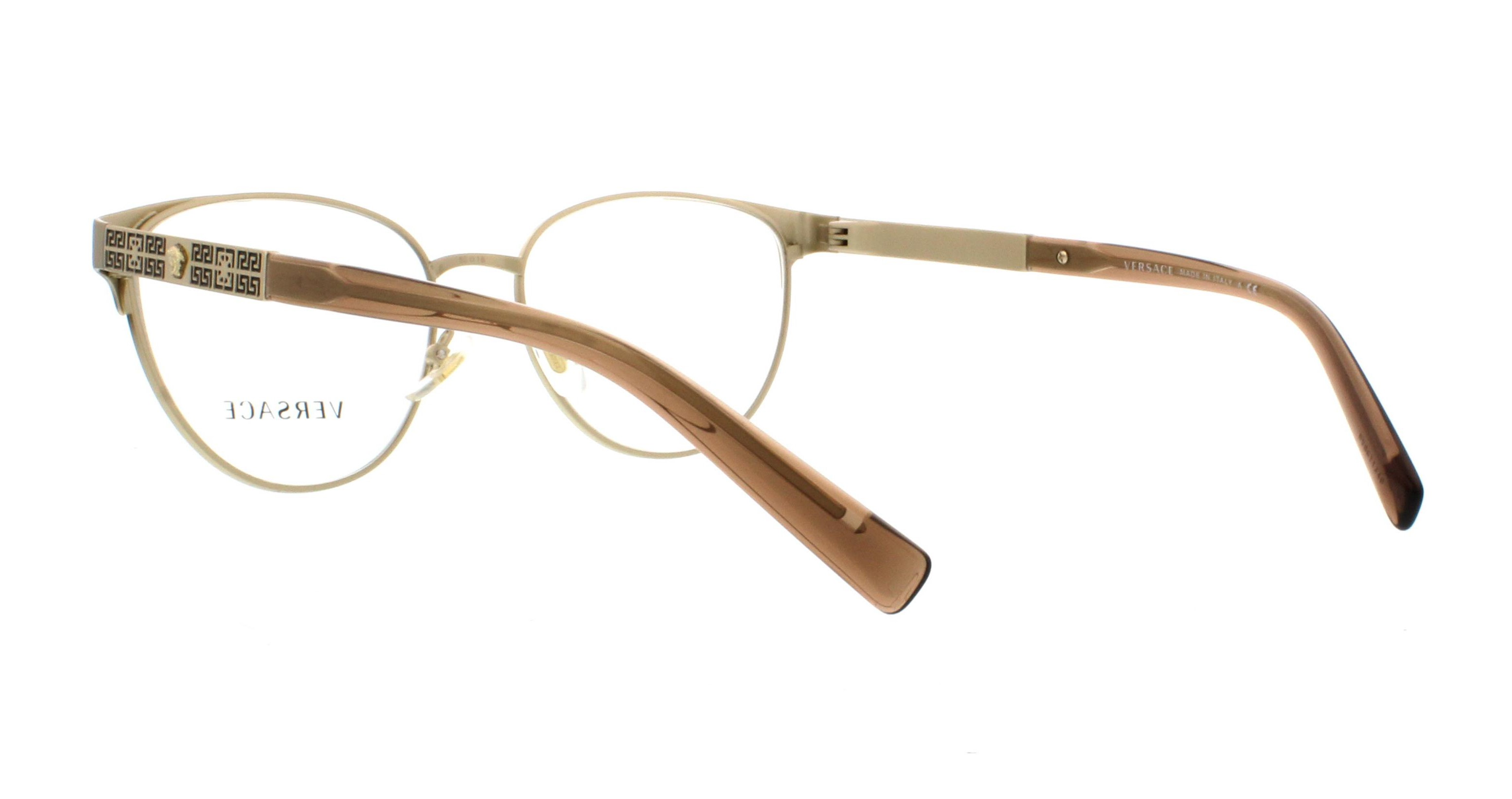 afaf62d038 VERSACE Eyeglasses VE1238 1339 Brushed Pale Gold 52MM - Walmart.com