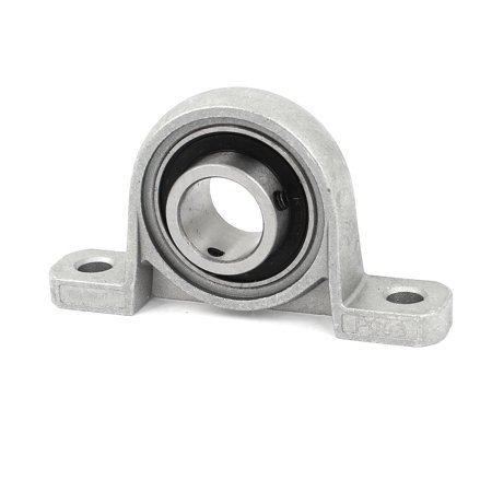 P003 17mm Mounted Self Align Pillow Block Bearing Solid Base Cast Housing Gray