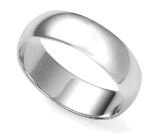 Solid Sterling Silver 7mm Wedding Band Ring