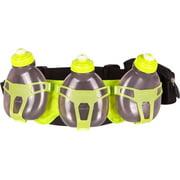 FuelBelt Helium H30 3-Bottle Hydration Belt: Black/Lagoon Green One Size