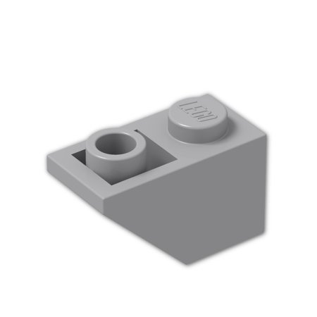 Brick Building Sets Original Lego Parts: Slope, Inverted 45º 2 x 1 (3665 - Pack of 8) (Light Bluish