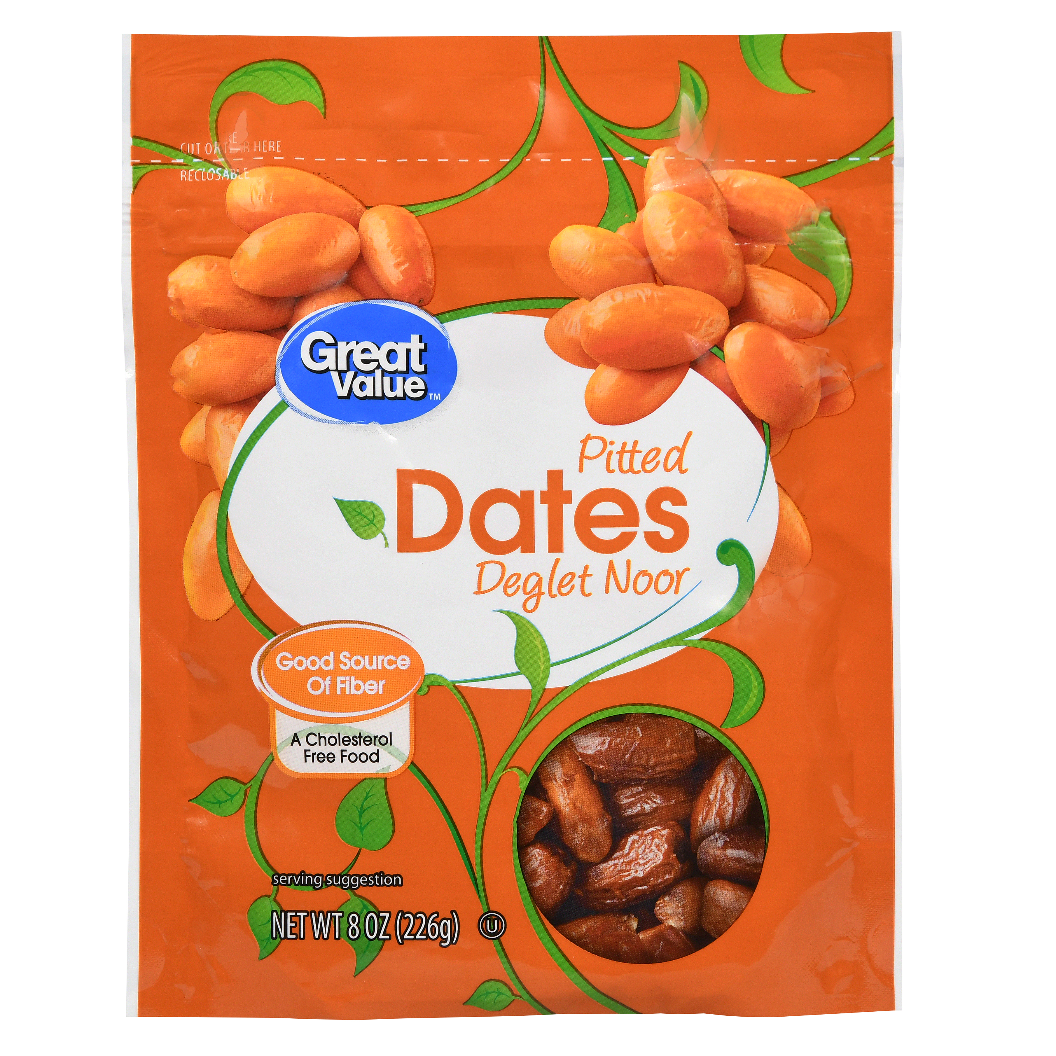 Great Value Pitted Dates, 8 oz