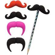 Geddes Mustache Eraser Pencil Topper
