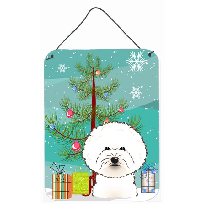 Carolines Treasures BB1589DS1216 Christmas Tree And Bichon Frise Wall and Door Hanging Prints - image 1 de 1