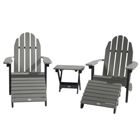 Image of 2 Essential Adirondack Chair with 1 Essential Folding Side Table & 2 Essential Folding Ottomans