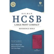 HCSB Large Print Compact Bible, Pink LeatherTouch