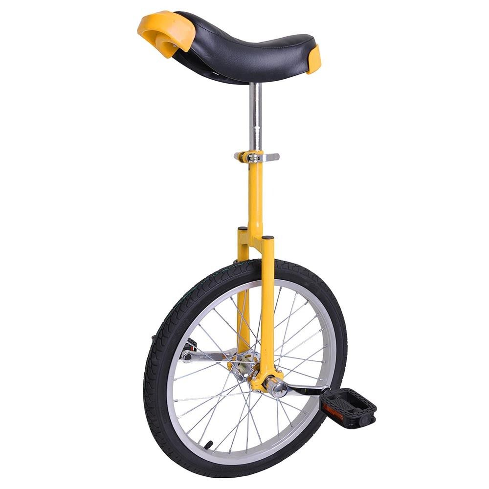 "GHP Yellow Manganese Steel 18"" Wheel Skid-Proof Tire Aluminum Alloy Rim Unicycle"