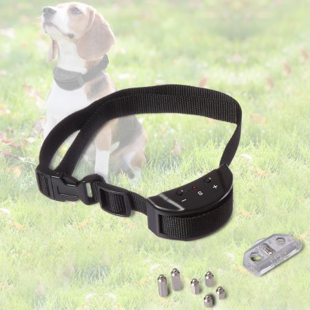Petrainer Electric Dog Anti Barking No Bark Collar Control Collars Warning Beeper ()