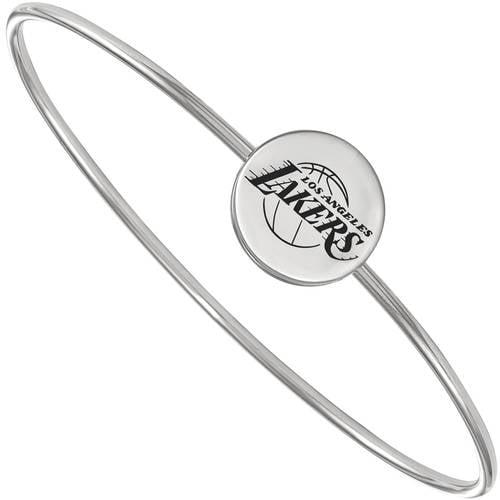 Logo Art LogoArt NBA Los Angeles Lakers Sterling Silver Bangle Bracelet