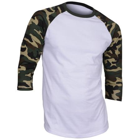 Dream USA Men's Casual 3/4 Sleeve Baseball Tshirt Raglan Jersey - Baseball Shirt Raglan Shirt
