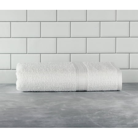 Mainstays Basic Bath Collection - Single Bath Towel, Solid White