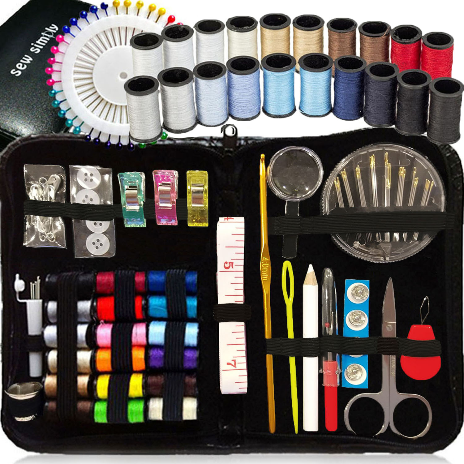 SEWING KIT, Over 130 DIY Premium Sewing Supplies, Mini ...