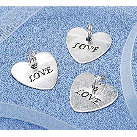 Charms - Love - Silver - Heart-Shaped - 20 Pieces