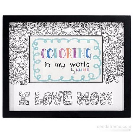 Coloring In My World 4X6 Picture Frame, I Love Mom ()