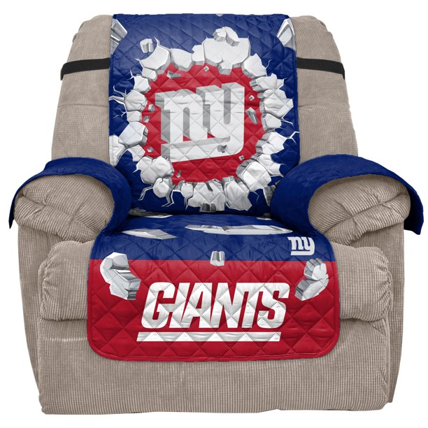 New York Giants 65'' x 80'' 3D Recliner Protector - Blue
