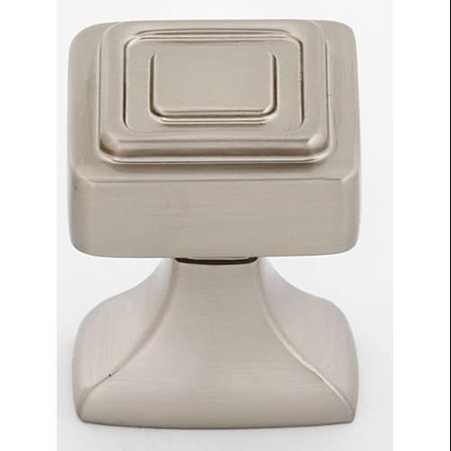 Alno  A985-1  Knobs  Cube  Cabinet Hardware  Square  ;Satin Nickel